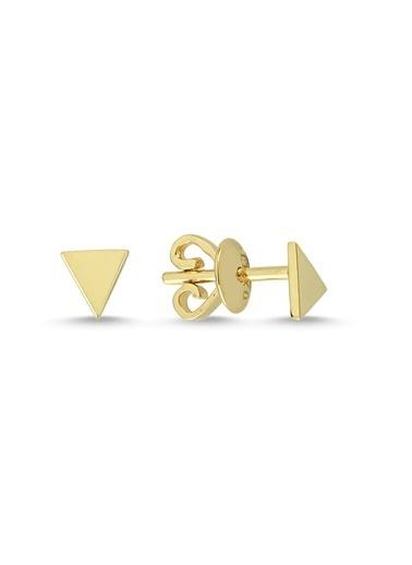 LUXO Diamond Altın Küpe Yeşil